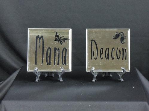 Custom Mirror Plaques