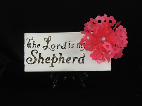 The Lord is my Shepherd Wooden Plaque