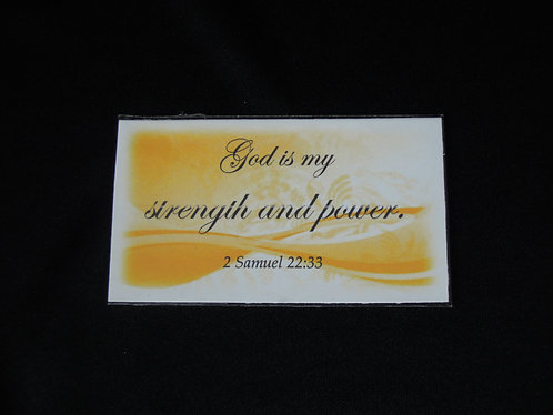 2 Sam 22:33 Strength and Power Magnet