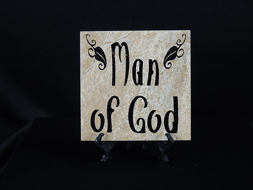 Man of God Tile Plaque