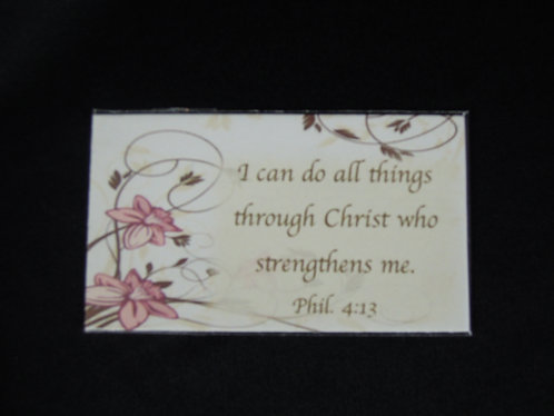 Phil 4:13 Can Do All Things Magnet