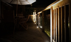Night up-lit decking