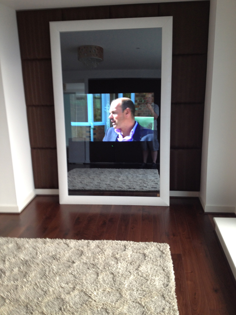 In mirror TV
