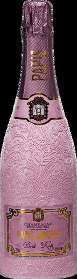 Champagne Papis Cuvée Brut Rosé isolated