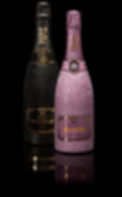 Papis Loveday Champagne bottle Brut black edition and Rose