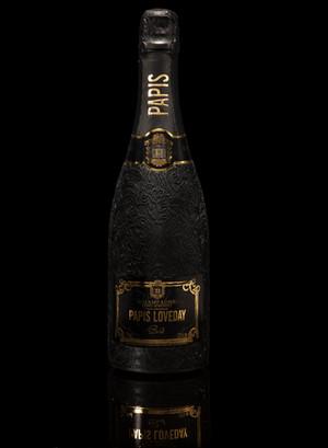 Champagne Papis Cuvée Brut on black