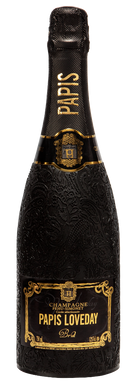 Champagne Papis Cuvée Brut isolated