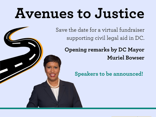 Avenues to Justice is in Three Weeks!