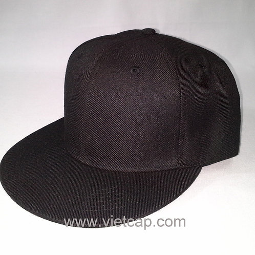 Plain flat bill cap