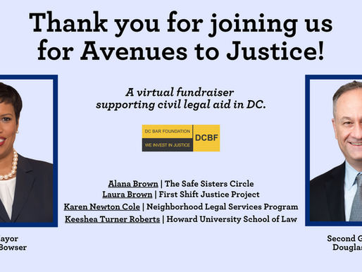 Get Involved with DC's Civil Legal Aid Network!