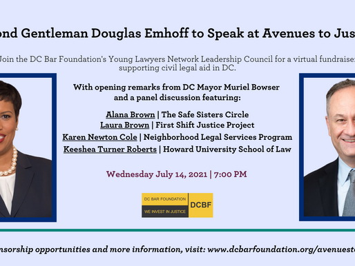 Press Release: Second Gentleman Douglas Emhoff to Speak at Avenues to Justice