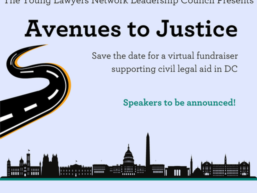 Avenues to Justice is on July 14!