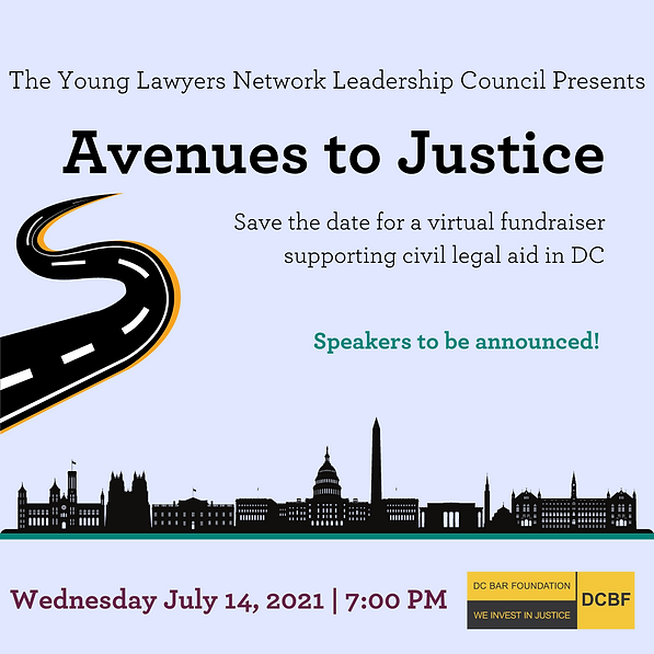 Avenues to Justice 2021 Save the Date (2