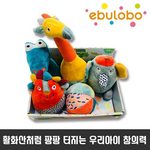 [에불로보] Ebulobo Julgle Bowling Pins Set  정글 볼링핀 셋트 인형