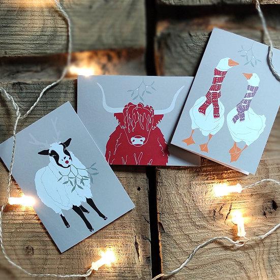 Farmyard Christmas Cards