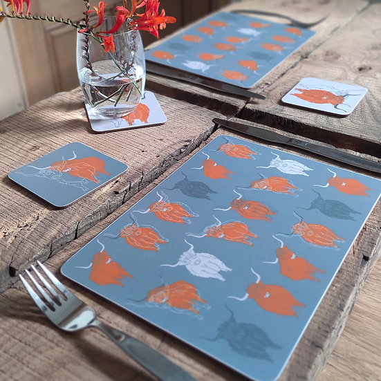 Highland Cow Table Mats