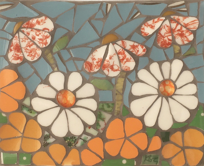 Flower Garden in Orange