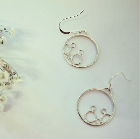 Round Water Lily Earrings