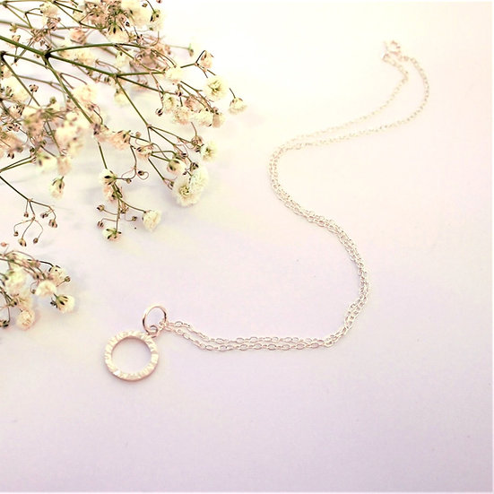 Textured Silver Crees Necklace