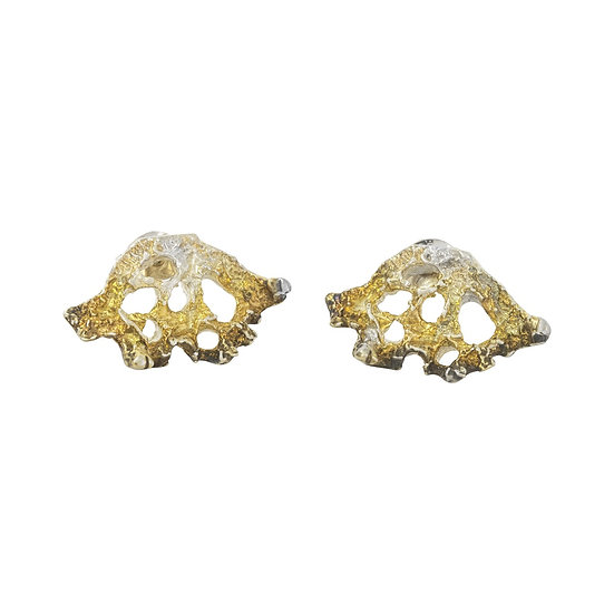 Triangular Lichen Earrings