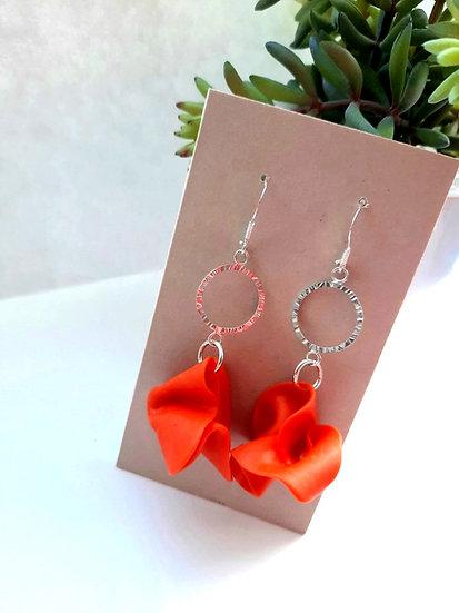 Orange Folklorico Earrings