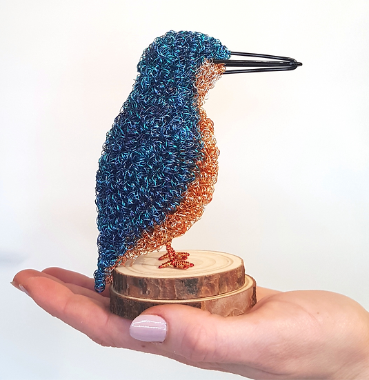 Kingfisher Wire Sculpture