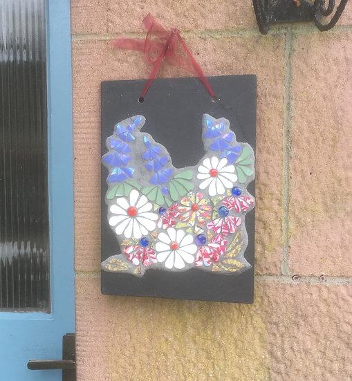 Floral Garden on Slate