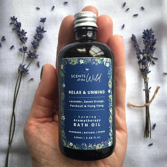 Relax & Unwind   Calming Natural Bath Oil