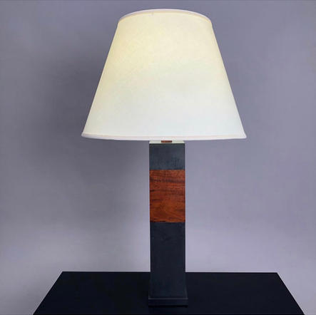 Slate & Walnut Table Lamp