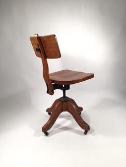 Oak Desk Chair, c. 1930