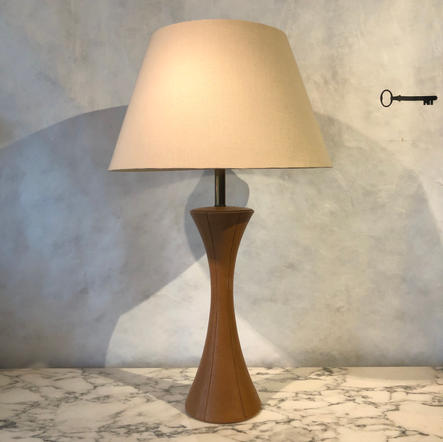 Leather & Linen Table Lamp