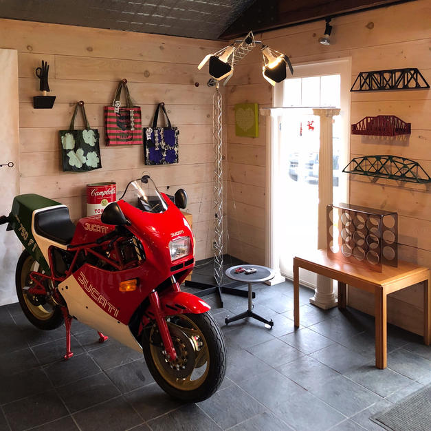 Ducati with Curtis Jere Floor Lamp