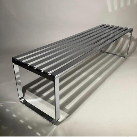 Milo Baughman sleek chrome bench