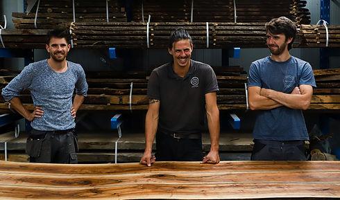 3 broers Vansteenkiste Treeline Gent boomstamtafels boomstam houten creaties epoxy
