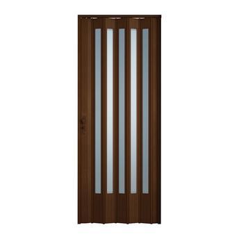 Porta sanfonada translúcida