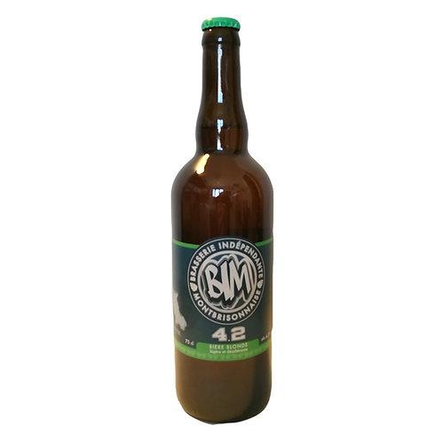 """""""4-2"""" 75cl  bière blonde pils     alc: 4,2%vol"""