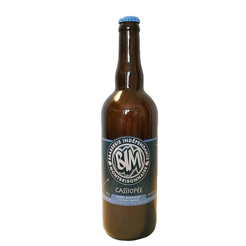 """""""Cassiopée"""" 75cl  bière blanche       alc: 5,5%vol"""