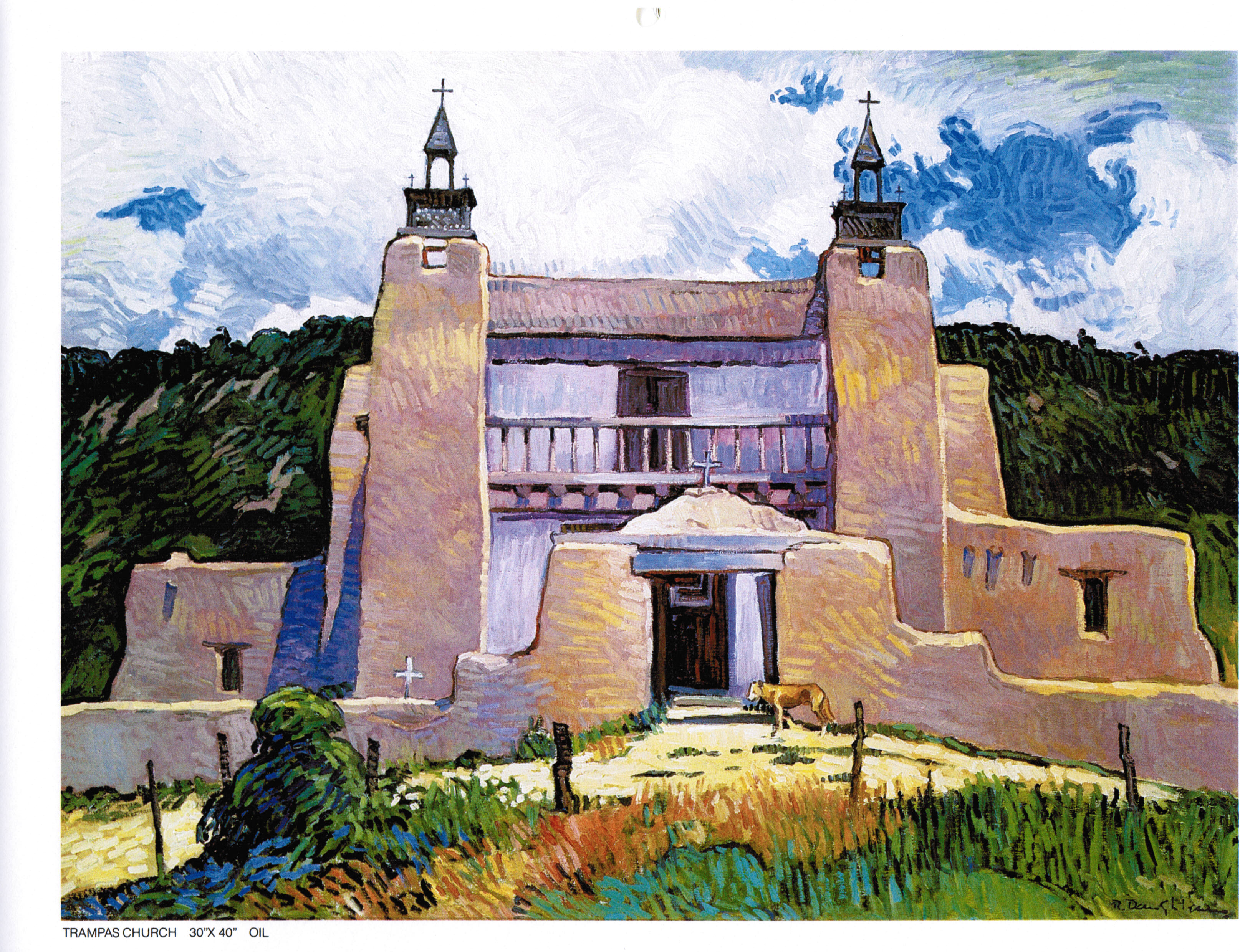 RD 1984 Calendar Aug Trampas Church 30x40.jpg