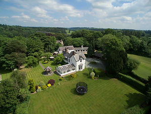 Aerial shot of property using drone