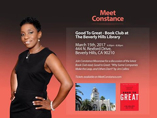 Meet Constance Moonzwe on March 15th for a discussion of the book 'Good to Great'