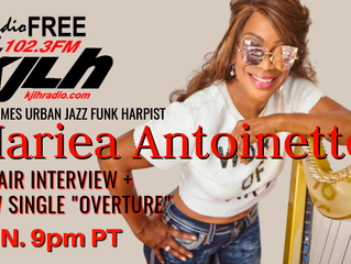 Harpist Mariea Antoinette talks her new Single 'Overture' on KJLH