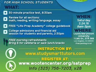 High School Students - Register for the FREE SAT Prep Workshop, Feb. 24th