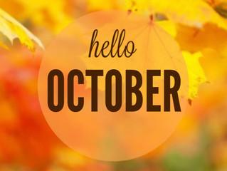 Happy October! Here is a list of October Holidays
