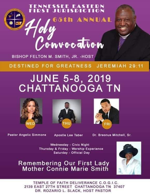The Tennessee Eastern 1st Jurisdiction Presents the 65th Holy Convocation