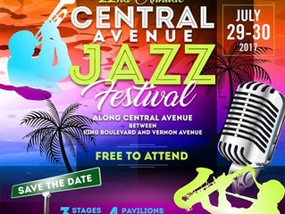 The FREE Central Avenue Jazz Festival, July 29th