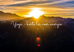 Yoga - korte les voor energie online (1)