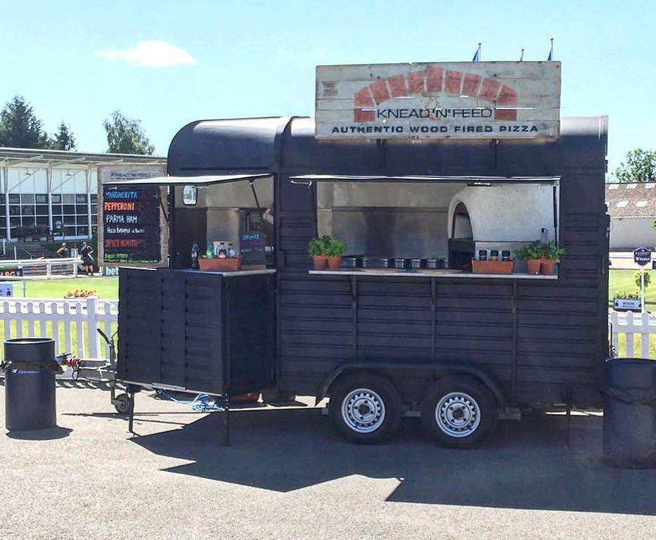 Wood fired mobile catering horsebox. Pizza caterer Leeds, Yorkshire