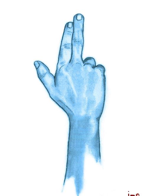 La main bleue