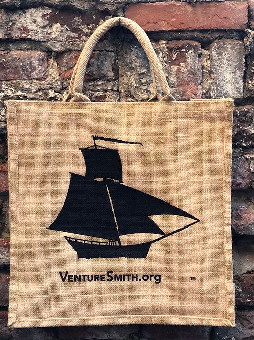 Jute shopping bag with water proof lining