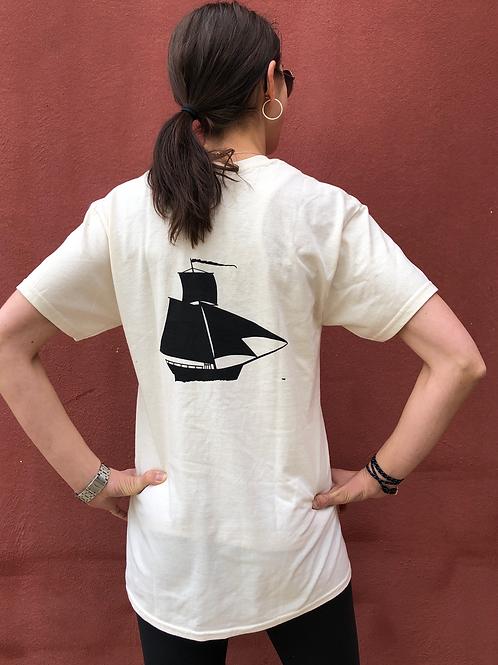Natural - T-Shirt w. Sloop Logo